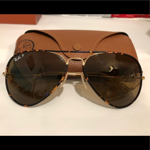 ray ban aviator full color brown polarized